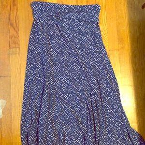 LuLaRoe pokadot maxi skirt